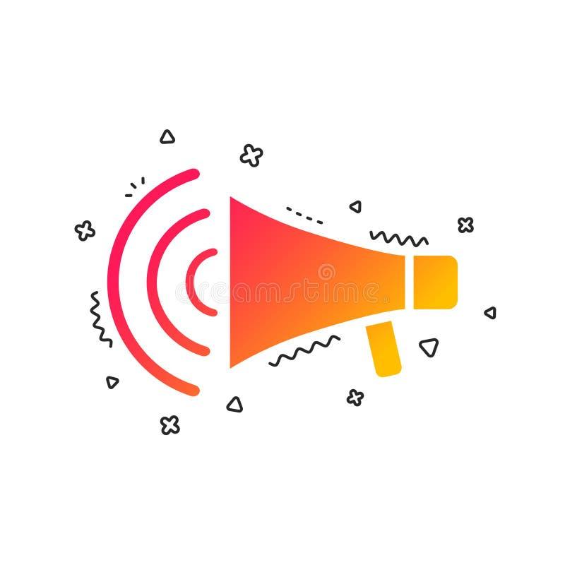 Megaphone sign icon. Loudspeaker strike symbol. Vector stock illustration