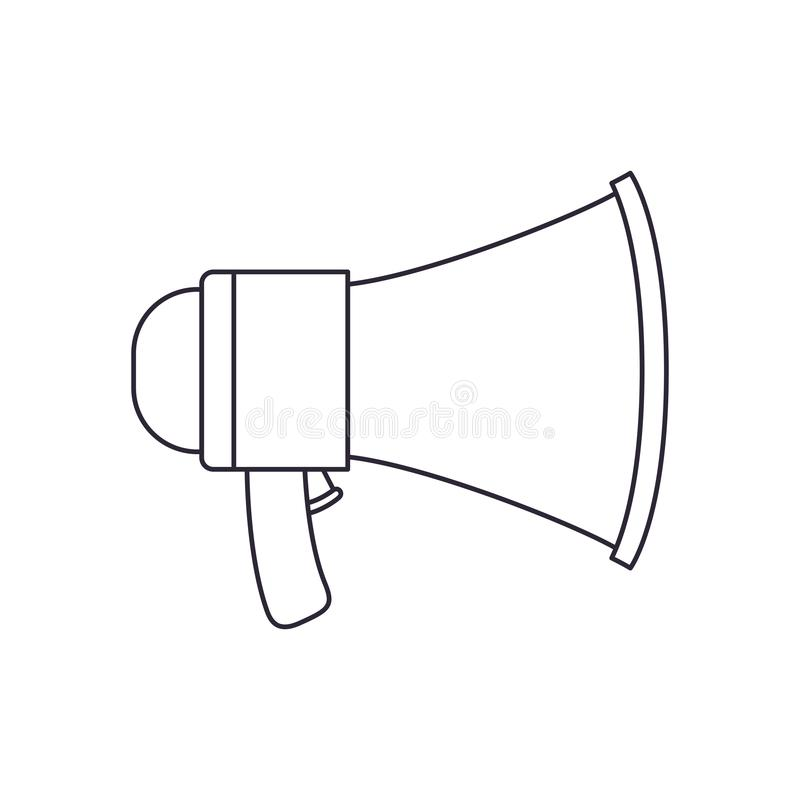 Megaphone silhouette isolated icon vector illustration