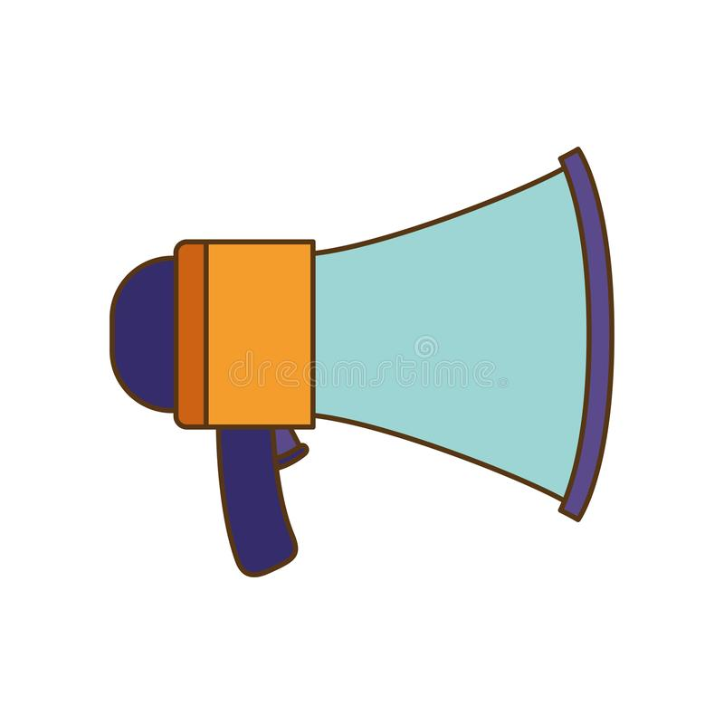 Megaphone silhouette isolated icon royalty free illustration