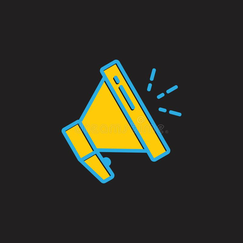 Megaphone speaker colorful symbol logo vector stock illustration
