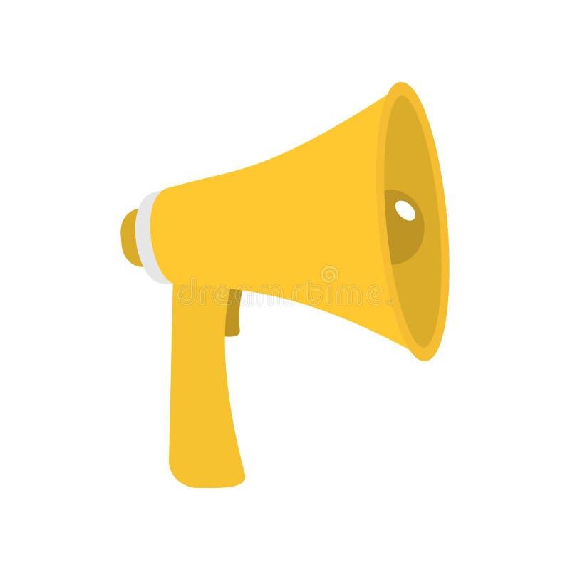 Megaphone, Speaker, Loudspeaker Icon. Announcement Sign Symbol. Flat ...