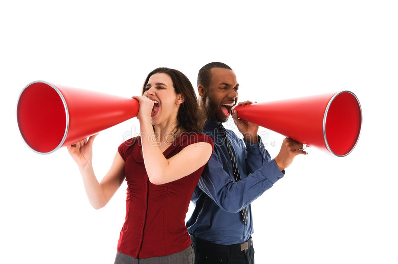 Download Megaphone Team Stock Photography - Image: 4695442