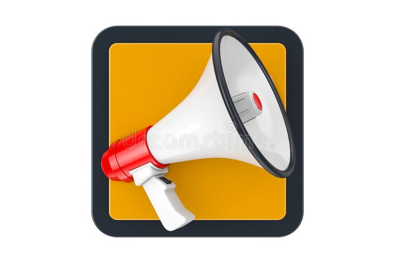 Megaphone Touchpoint Icon Button. 3d Rendering royalty free stock photos