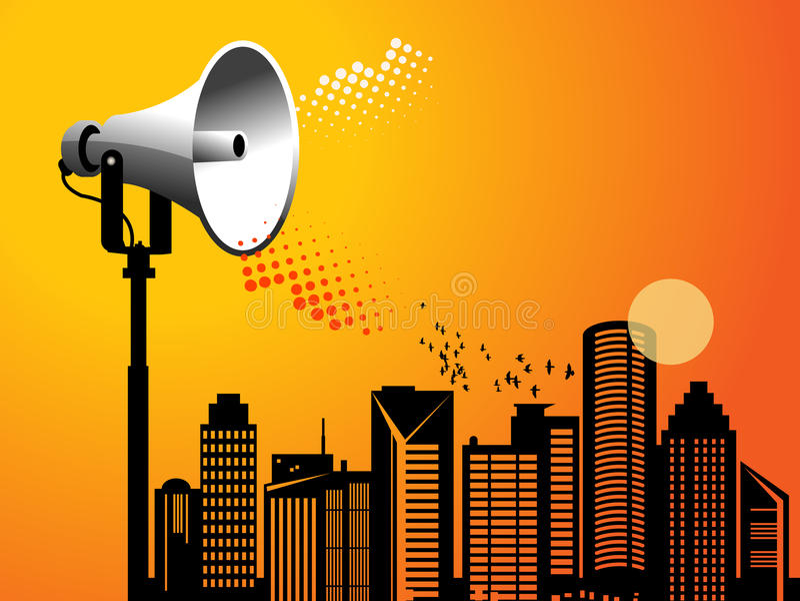 Megaphone Urban Stock Photography