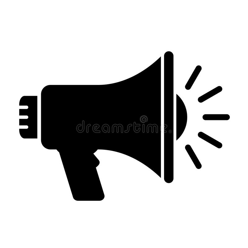 megaphone vector icon stock vector illustration of design 97080159 rh dreamstime com megaphone icon vector free download