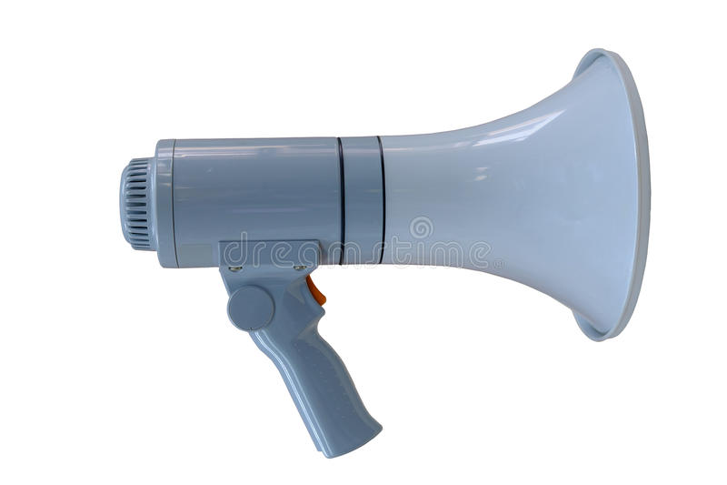 Megaphone on white. The megaphone on white background stock image