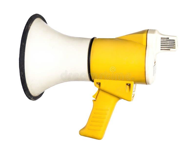 megaphone on white background stock images