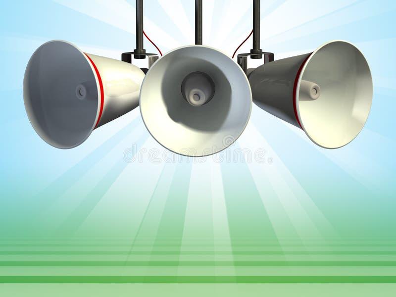 megaphones διανυσματική απεικόνιση