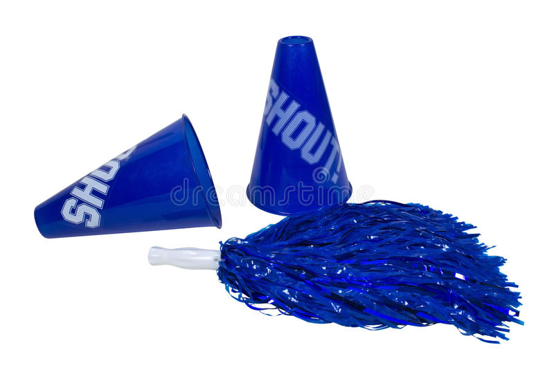 Download Megaphones and Pom Pom stock photo. Image of yell, team - 21342330