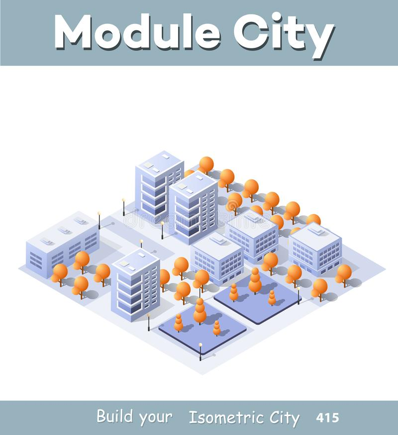 Megapolis city quarter vector illustration