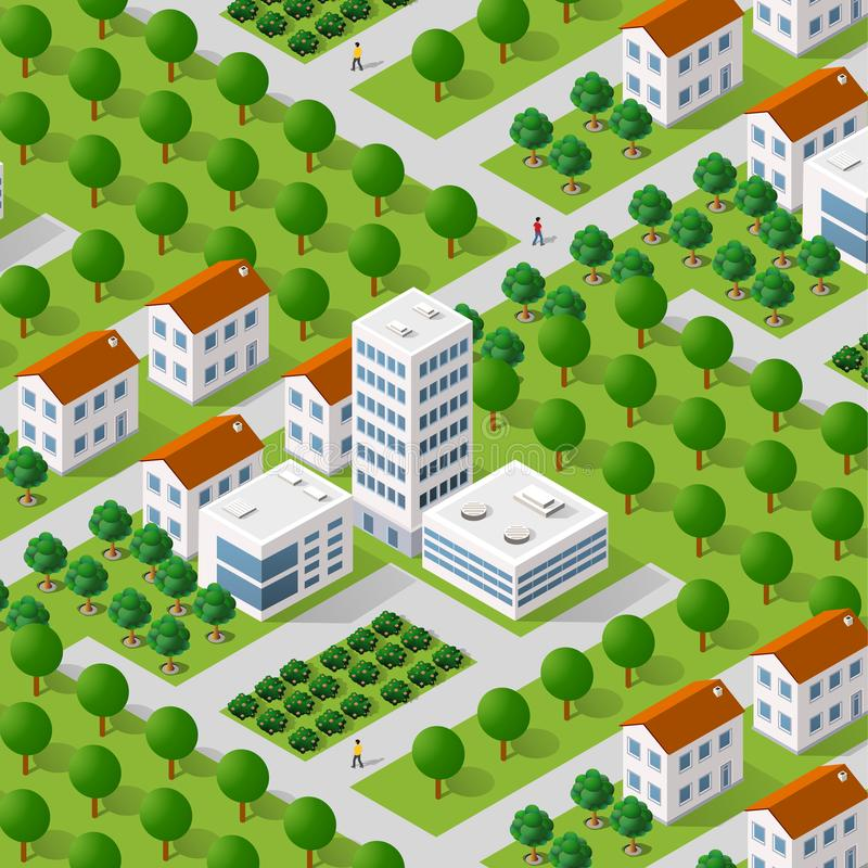 Megapolis city quarter stock illustration