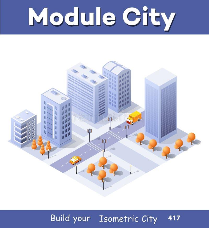 Megapolis city quarter royalty free illustration