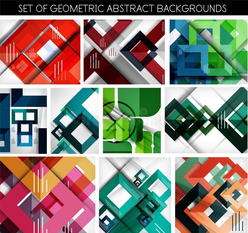 Megareeks document geometrische achtergronden stock illustratie