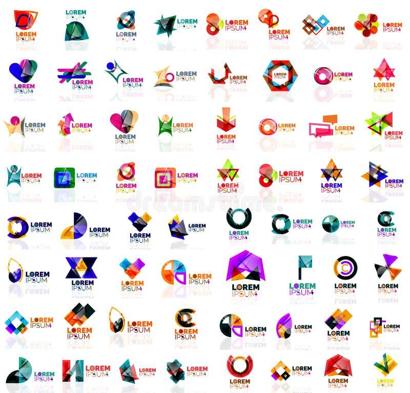 Megareeks geometrische abstracte emblemen stock illustratie