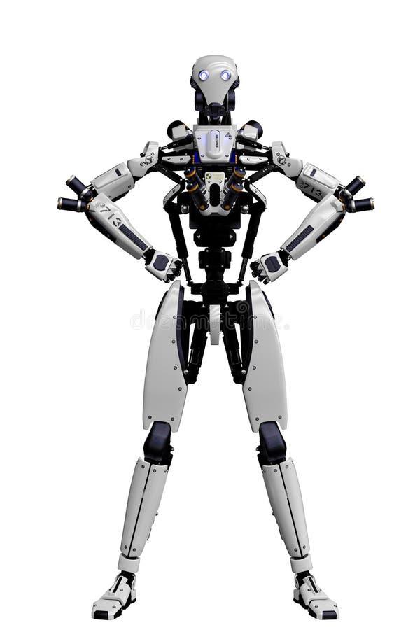 Megarobot super hommel op een witte achtergrond stock illustratie