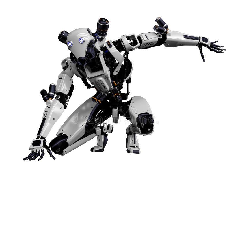 Megarobot super hommel op een witte achtergrond