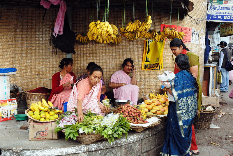 meghalaya αγοράς της Ινδίας στοκ εικόνες