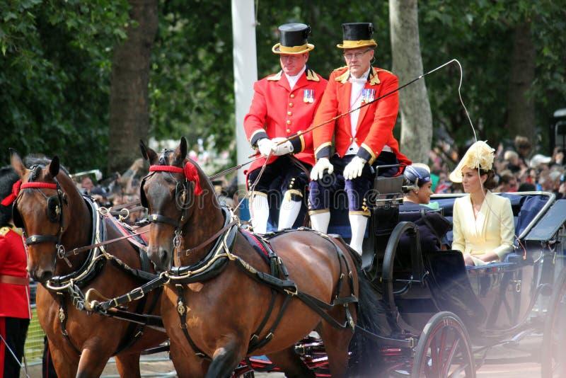 Meghan Markle, Londyński uk 8 2019 Czerwiec - Meghan Markle Kate Middleton zapasu fotografia obraz stock