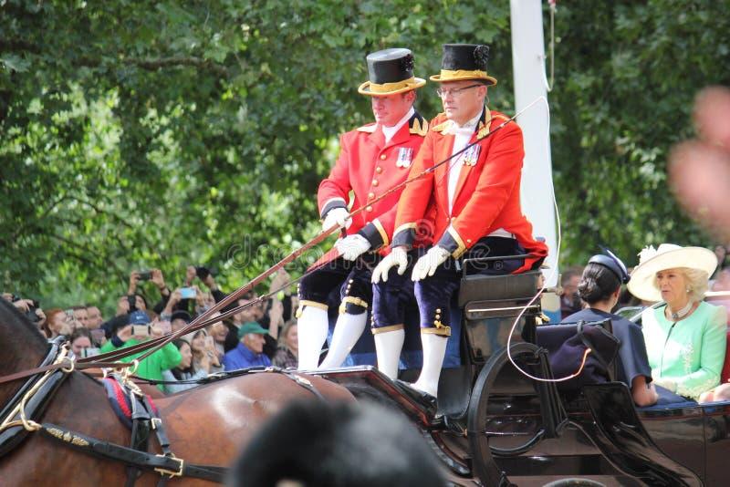 Meghan Markle, Londyński uk 8 2019 Czerwiec - Meghan Markle książe Harry Kate Middleton zdjęcie stock