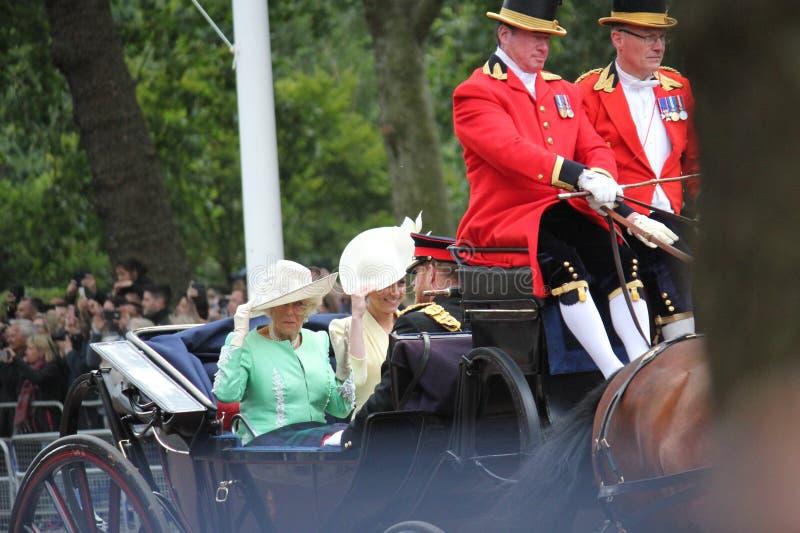 Meghan Markle- u. PrinzHarry Vorrat, London Großbritannien, am 8. Juni 2019 - Meghan Markle Prince Harry Trooping die Farbekönigs lizenzfreie stockbilder