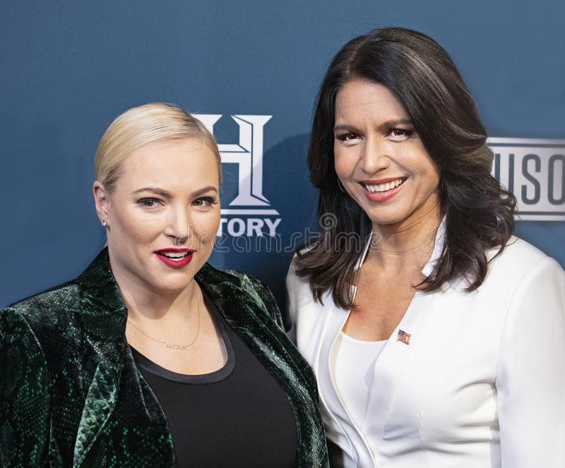 Meghan McCain & Tulsi Gabbard at the Variety 3rd Annual Salute Event. stock image