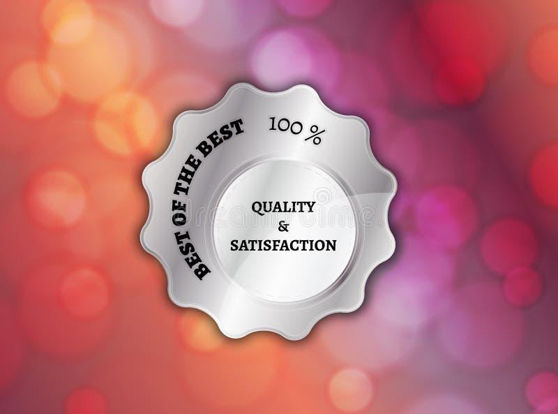 Meglio dell'argento di migliore bollo illustrazione vettoriale