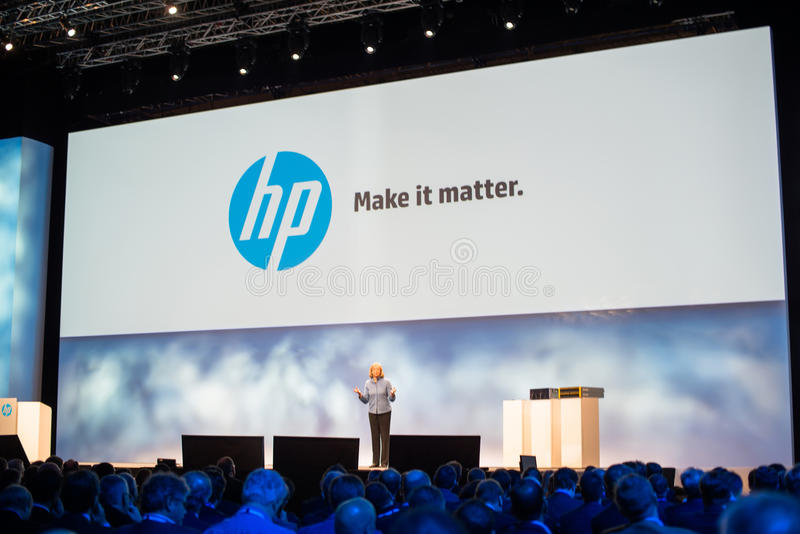 Megohm Whitman på HP upptäcker 2012 royaltyfri bild