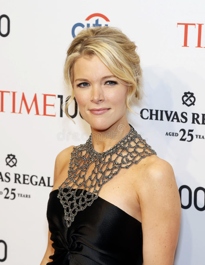 Megyn Kelly. Honoree Megyn Kelly arrives on the red carpet for Time's 100 Most Influential People gala at Rose Hall, Home of Jazz at Lincoln Center on April 29 stock photos