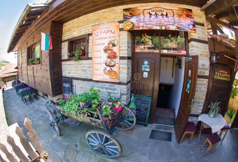 Mehana - Nationaal Bulgaars restaurant stock afbeelding