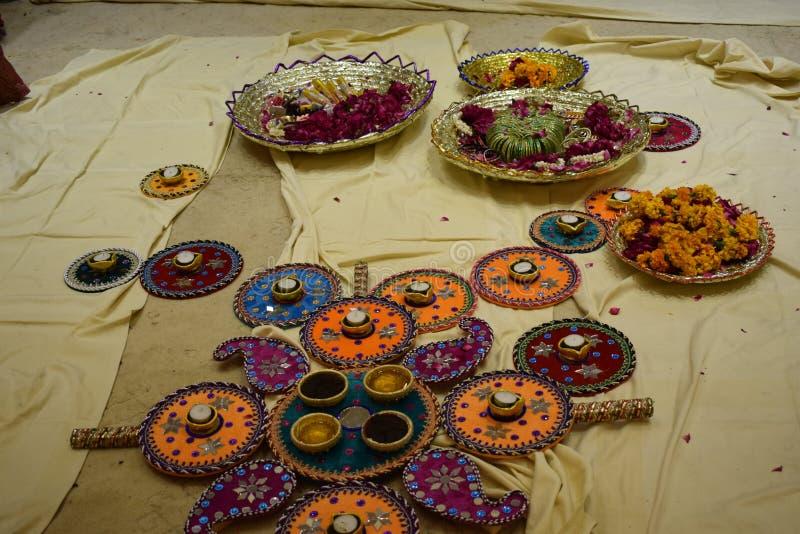 Mehandi ceremoni fotografering för bildbyråer