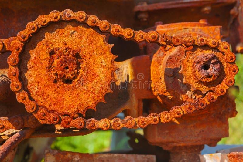 Mehanism métallique rouillé de roues dentées images stock