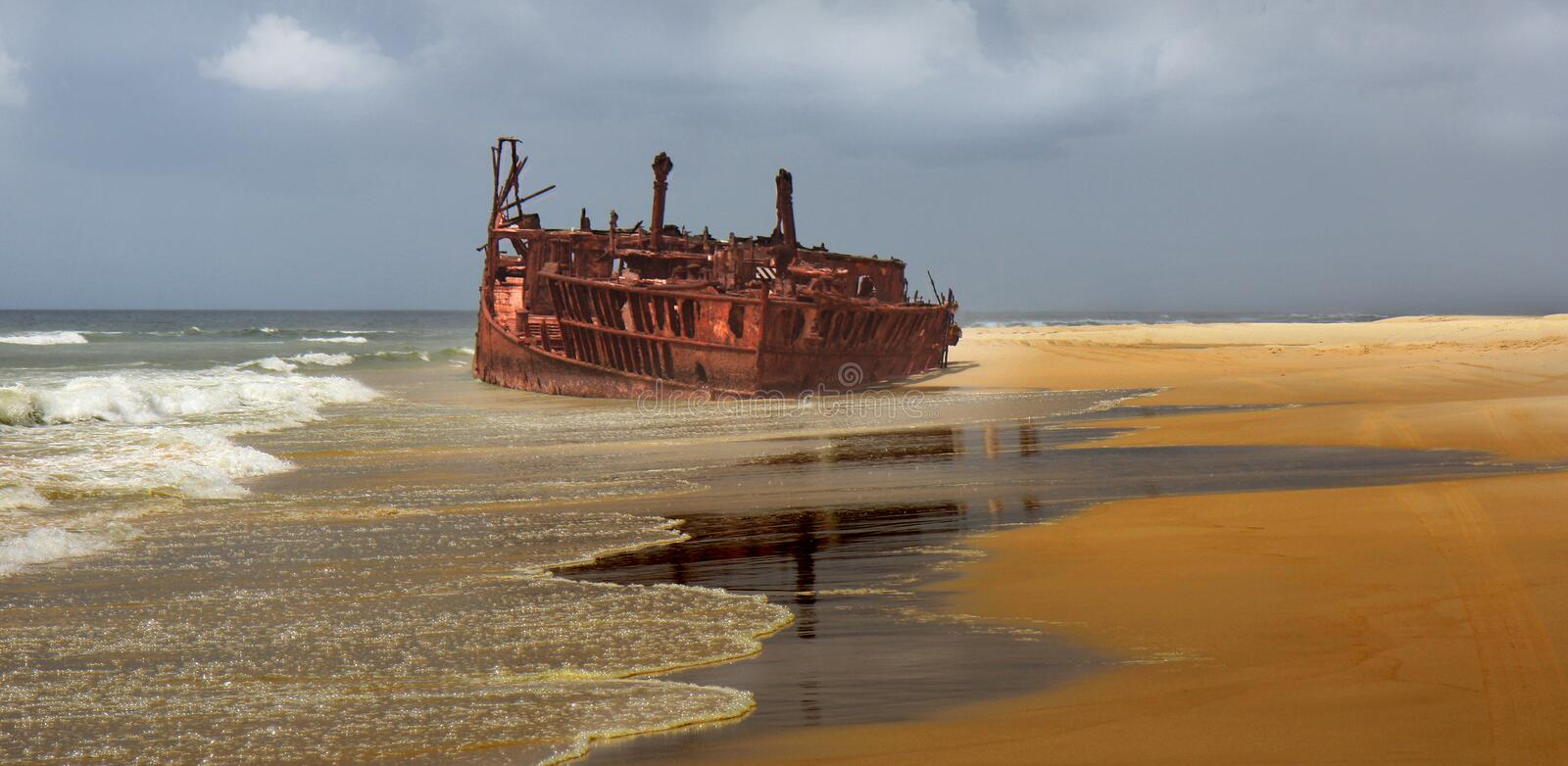 Download Meheno shipwreck stock image. Image of damaged, blue - 20283419