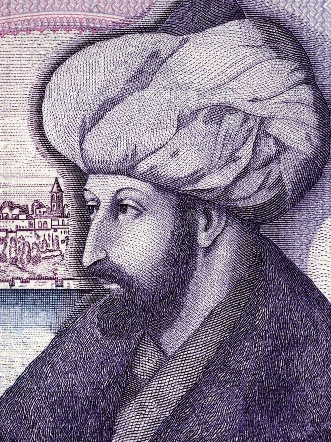 Mehmed征服者画象 免版税库存照片