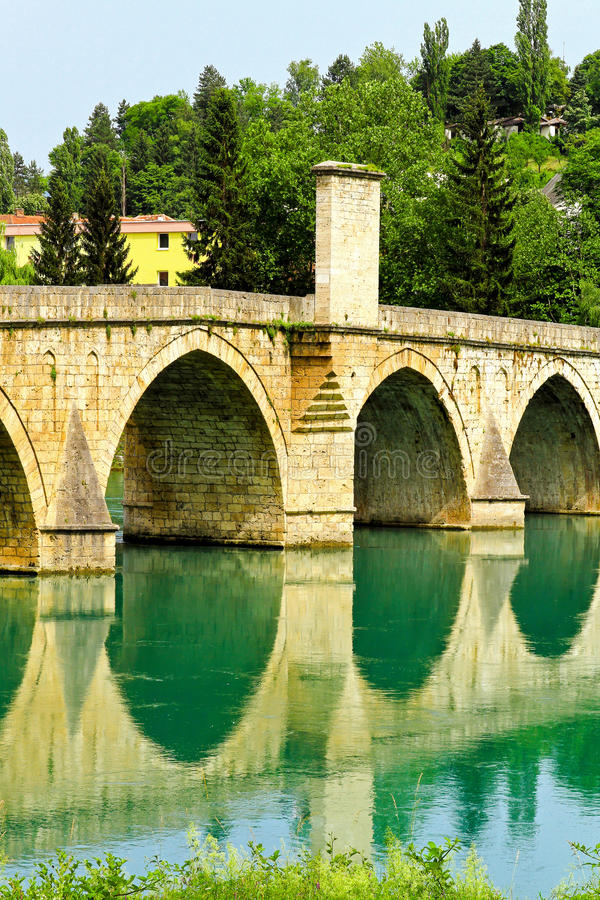 Download Mehmed Pasha bridge stock image. Image of sokolovic, architecture - 16106395