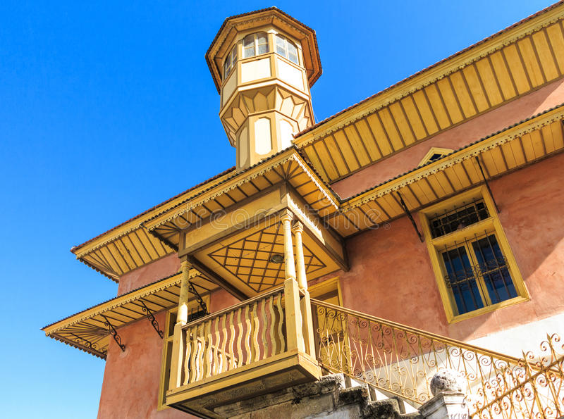 Mehmet Aga Mosque em Rhodes Old Town, Grécia imagem de stock
