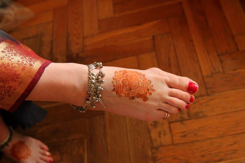 Mehndi στη ημέρα γάμου στοκ φωτογραφία με δικαίωμα ελεύθερης χρήσης