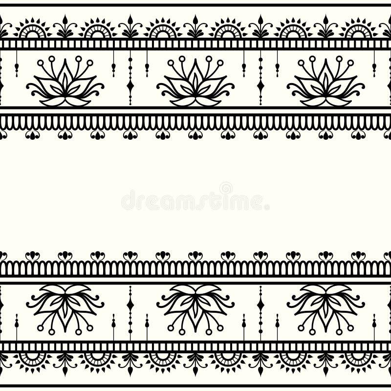 Mehndi, декоративный шаблон в индийском стиле бесплатная иллюстрация