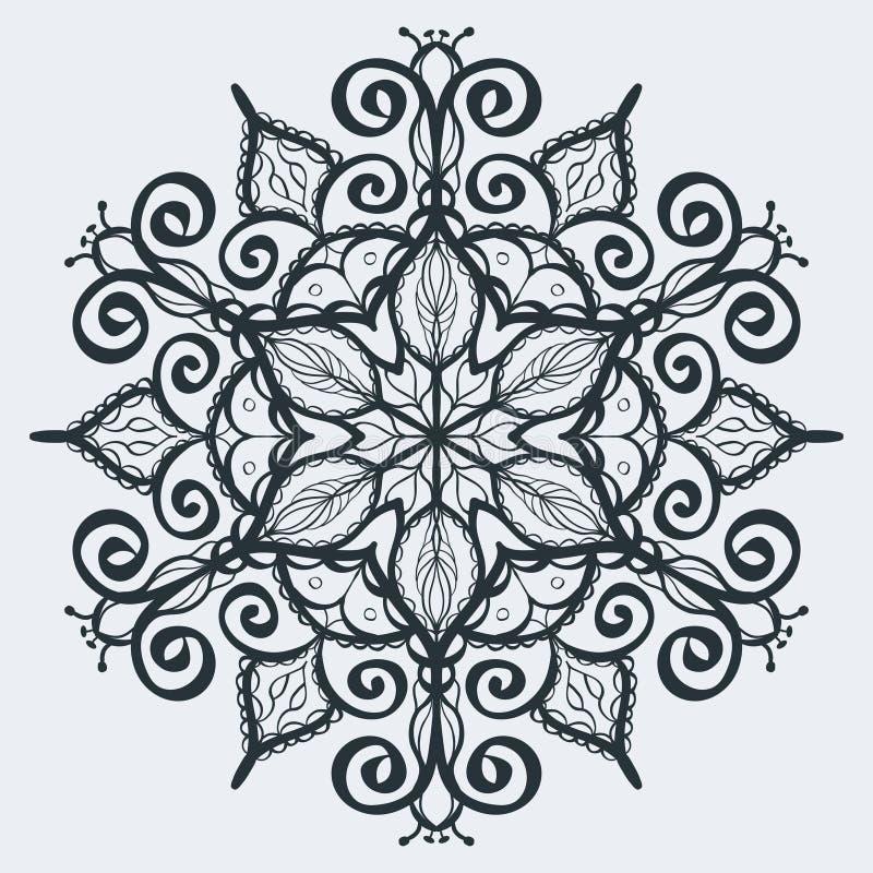 Mehndi d'annata del hennè dell'ornamento fotografie stock libere da diritti