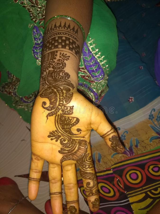 Mehndi design stock photos