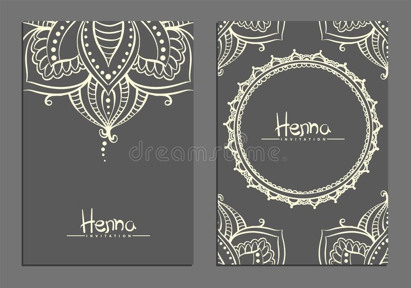 Mehndi template illustration stock photos