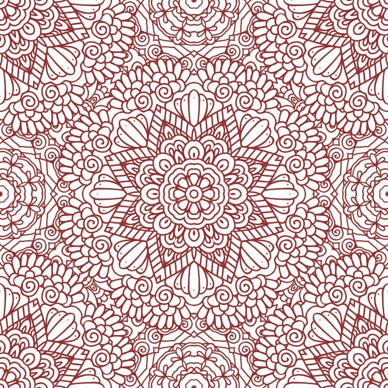 Free Mehndi Henna Design Seamless Pattern Stock Image - 58733641