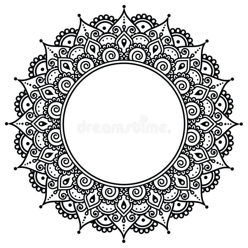 Mehndi, modello indiano del tatuaggio del hennè o fondo royalty illustrazione gratis