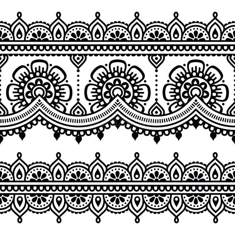 Mehndi, modelo indio del tatuaje de la alheña o fondo libre illustration
