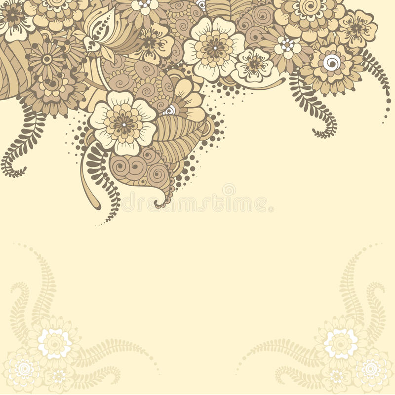 Mehndy flowers card stock vector illustration of flower 60215601 ornate vector card template in indian mehndi style hand drawn abstract background invitation cards with mehndi elements floral ornament stopboris Images