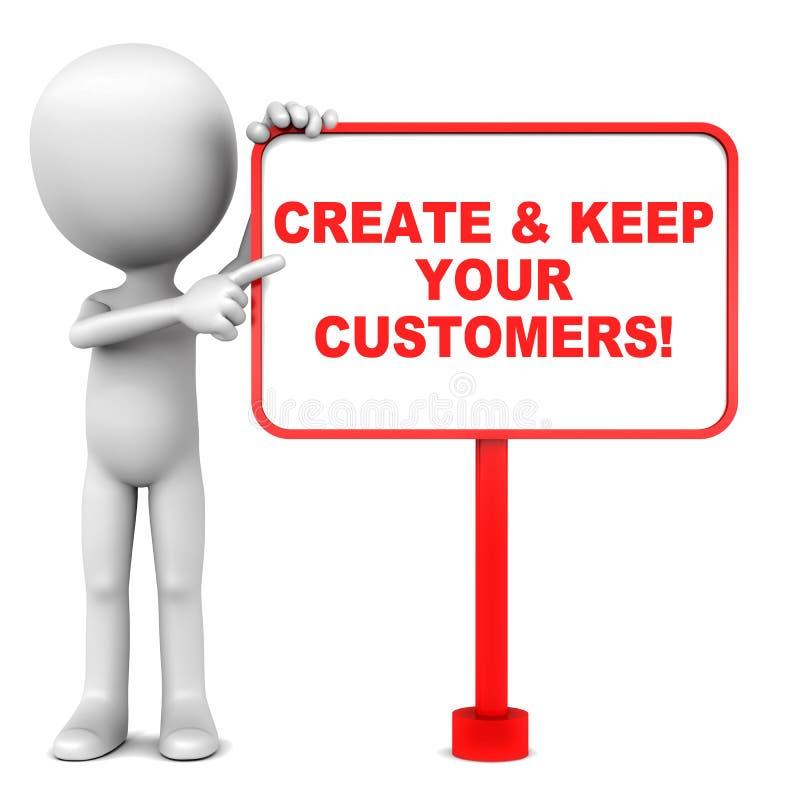 Mehr Kunden lizenzfreie abbildung