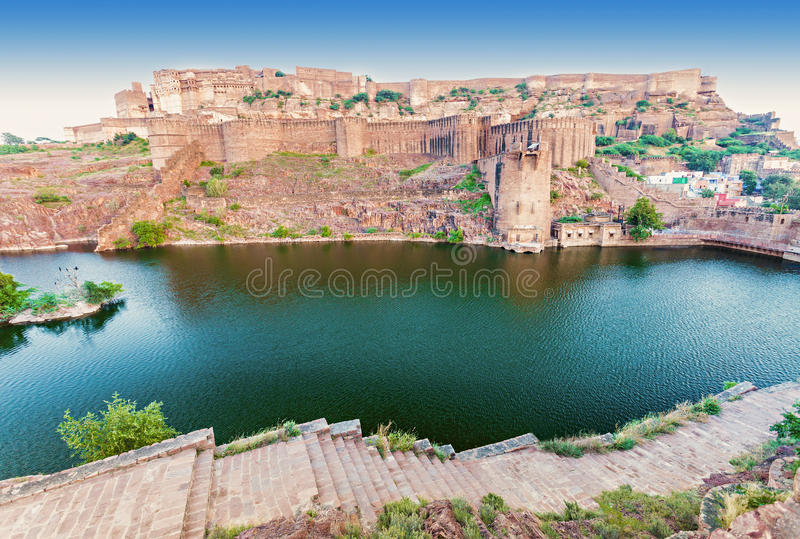 Mehrangarh堡垒,乔德普尔城 图库摄影