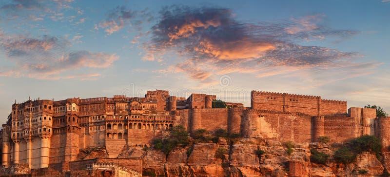 Mehrangarh堡垒,印度 免版税库存照片