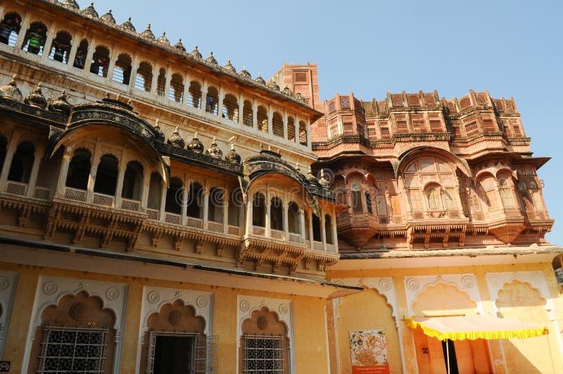 Mehrangarh,焦特布尔,印度拉贾斯坦邦 免版税图库摄影