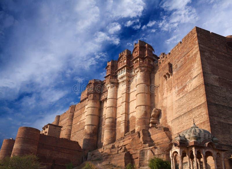 Mehrangarh ή οχυρό Mehran στο Jodhpur, Rajasthan, Ινδία στοκ εικόνες με δικαίωμα ελεύθερης χρήσης