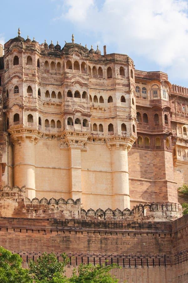 Mehrangarh ή οχυρό Mehran στο Jodhpur, Rajasthan, Ινδία στοκ φωτογραφία